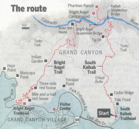 Grand Hike Annual One Day Grand Canyon Hike GC Death March - Grand canyon campground map